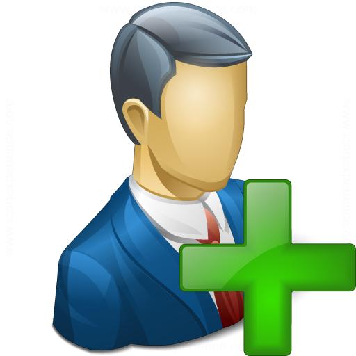 Businessman Add Icon