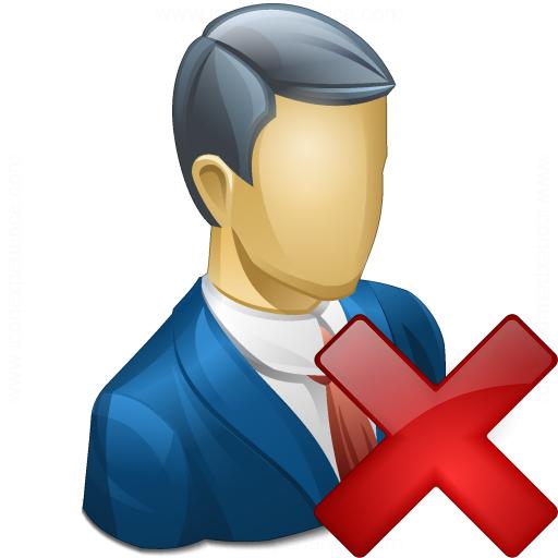 Businessman Delete Icon