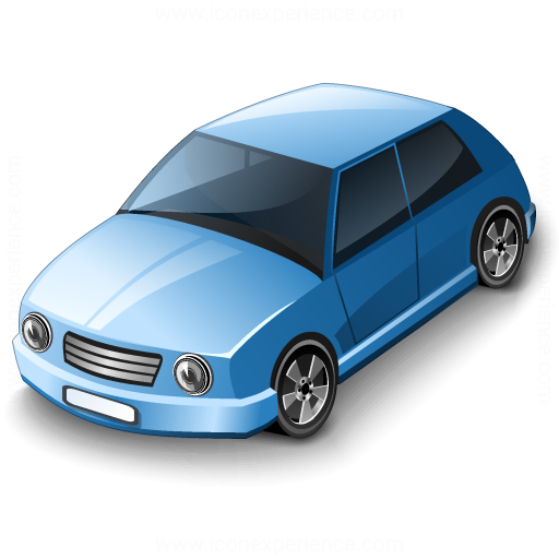 Car Compact Blue Icon