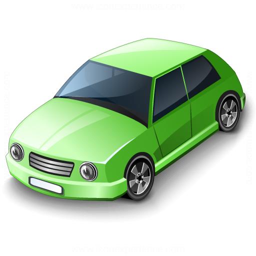Car Compact Green Icon