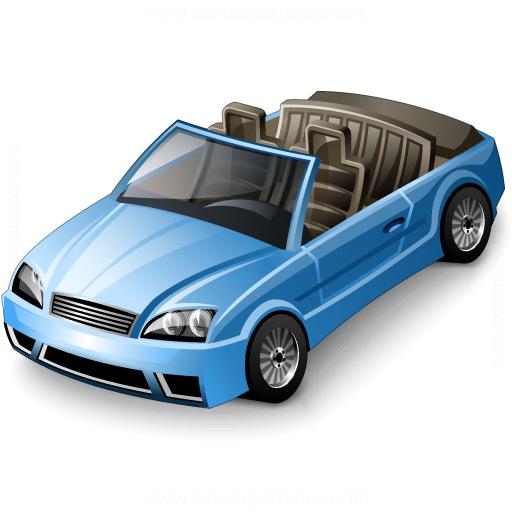 Car Convertible Blue Icon