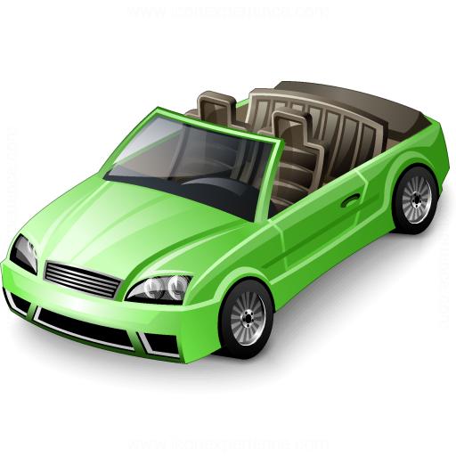 Car Convertible Green Icon