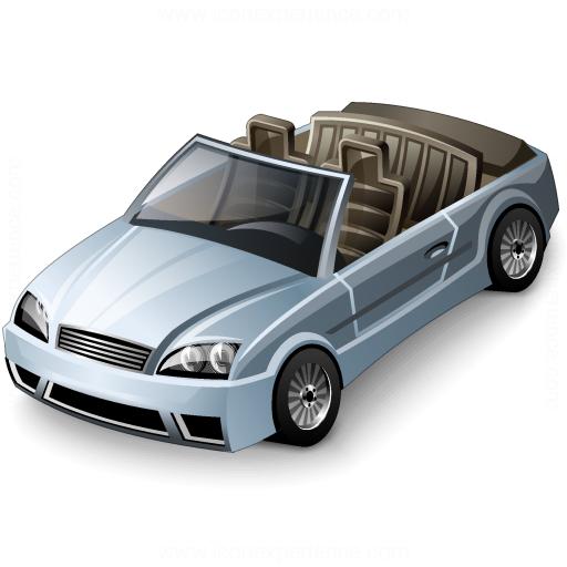 Car Convertible Grey Icon