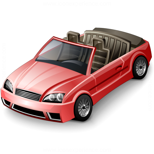 Car Convertible Red Icon