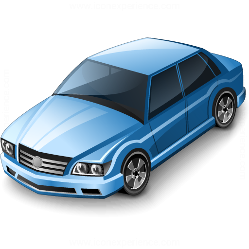 Car Sedan Blue Icon