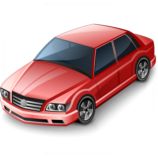 Car Sedan Red Icon