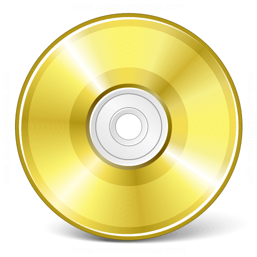 Cd Gold Icon