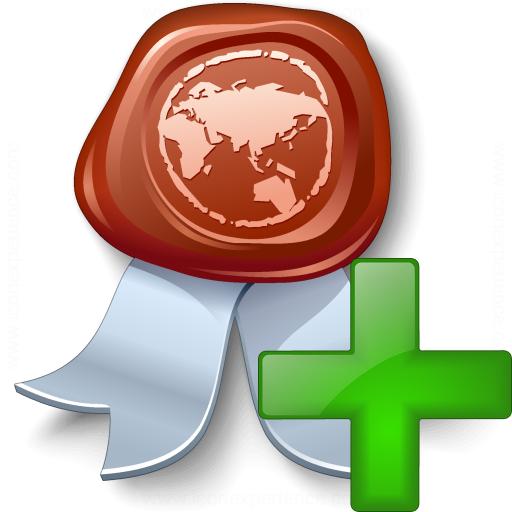 Certificate Add Icon