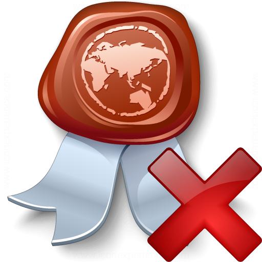 Certificate Delete Icon