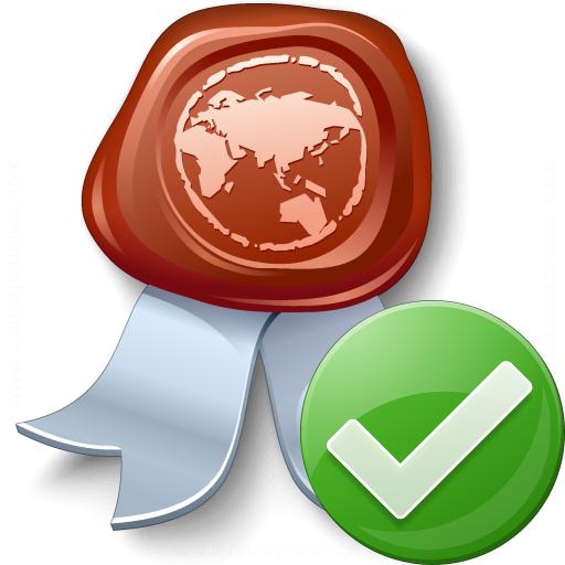 Certificate Ok Icon