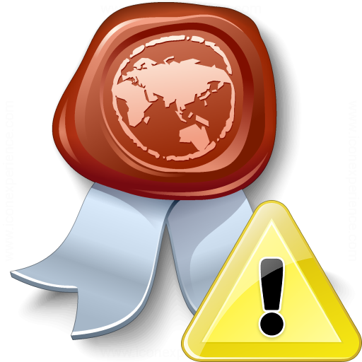 Certificate Warning Icon