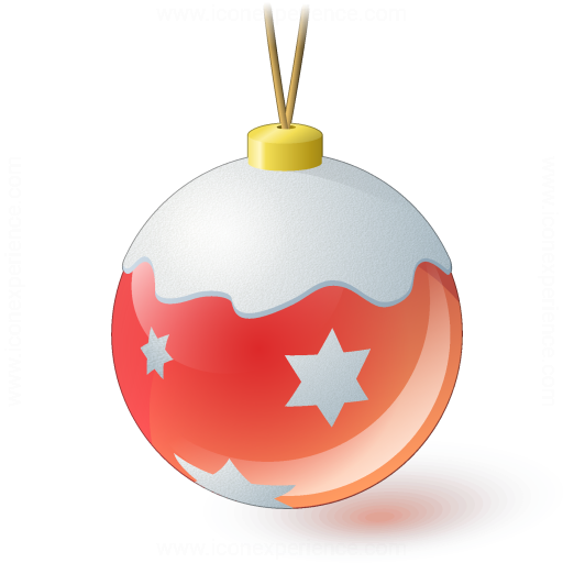 Christmas Ball Red Icon