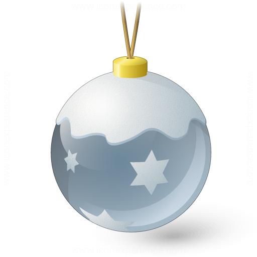 Christmas Ball Silver Icon