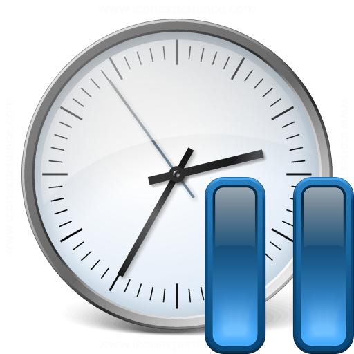 Clock Pause Icon