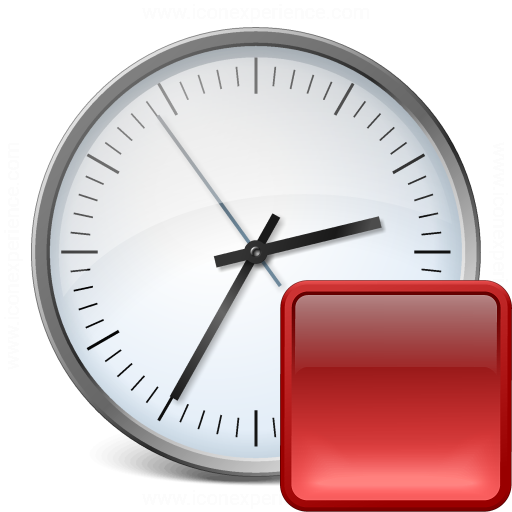 Clock Stop Icon