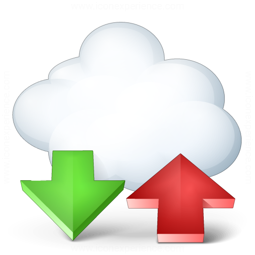 Cloud Computing Updown Icon