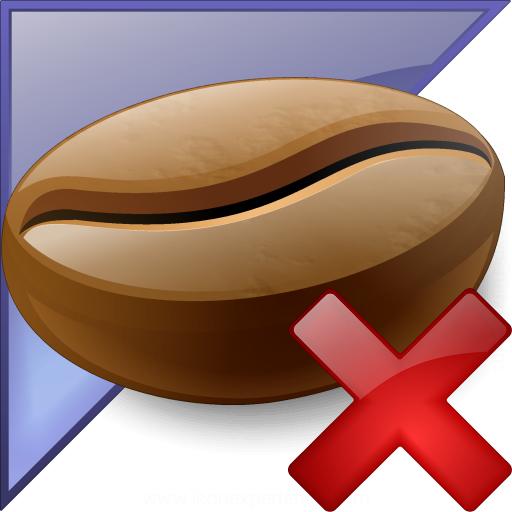 Coffee Bean Enterprise Delete Icon