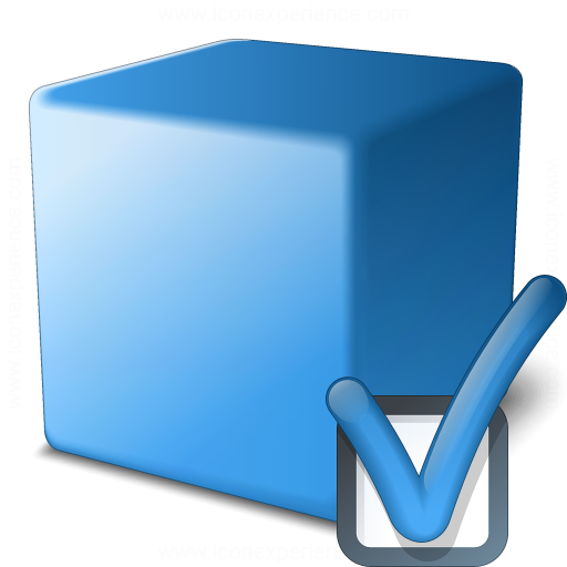 Cube Blue Preferences Icon