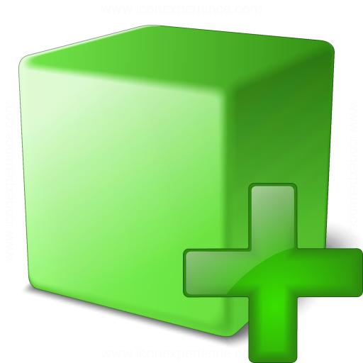 Cube Green Add Icon