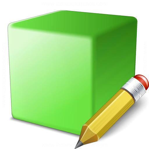 Cube Green Edit Icon