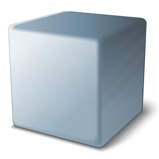 Cube Grey Icon