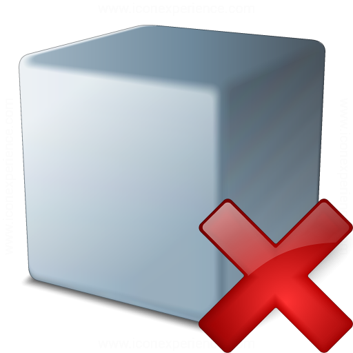 Cube Grey Delete Icon