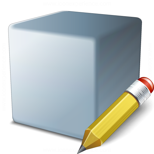 Cube Grey Edit Icon