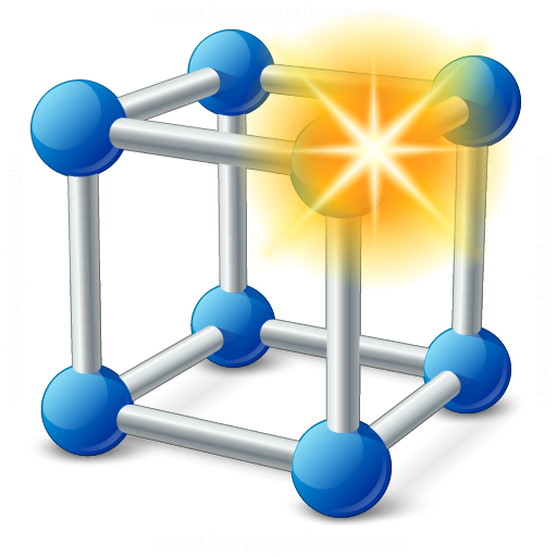 Cube Molecule New Icon
