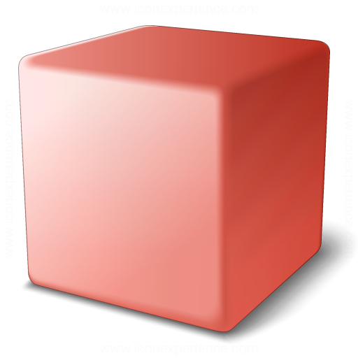 Cube Red Icon