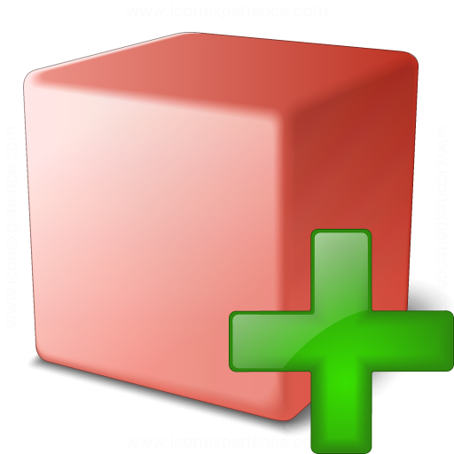 Cube Red Add Icon