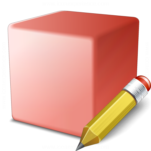 Cube Red Edit Icon