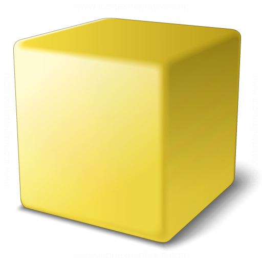 Cube Yellow Icon