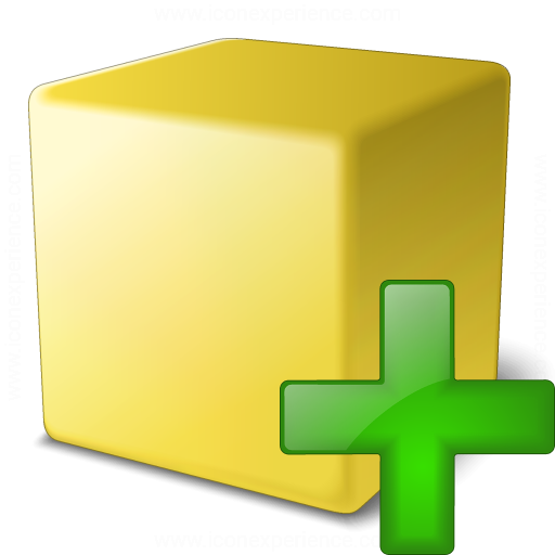 Cube Yellow Add Icon