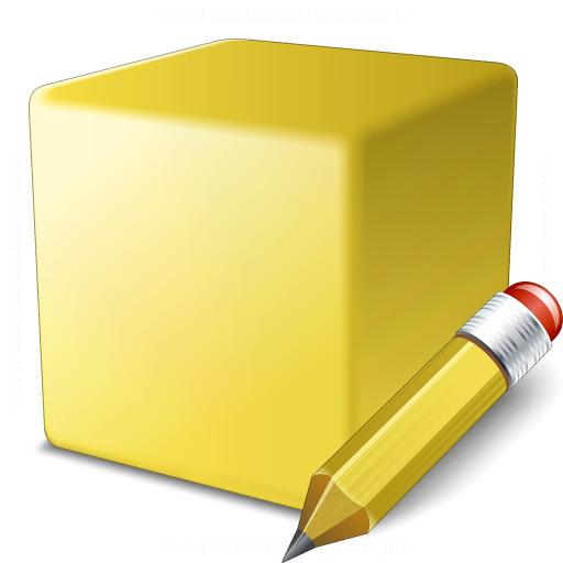 Cube Yellow Edit Icon