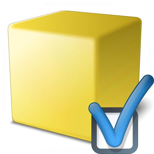 Cube Yellow Preferences Icon