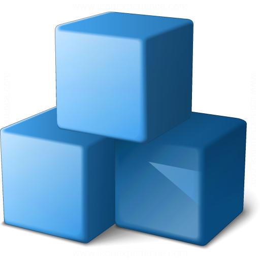 Cubes Blue Icon