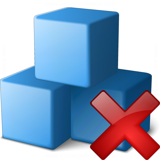 Cubes Blue Delete Icon