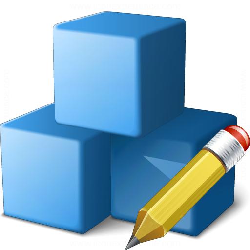 Cubes Blue Edit Icon