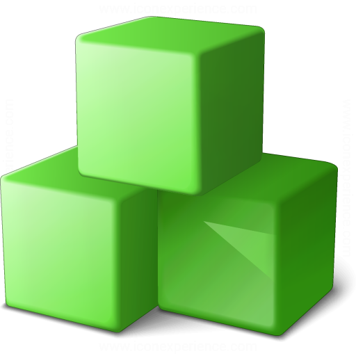 Cubes Green Icon