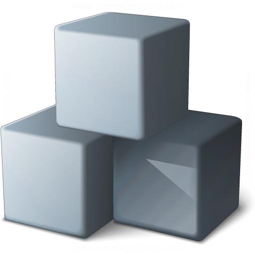 Cubes Grey Icon