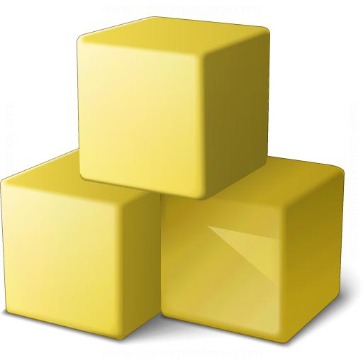 Cubes Yellow Icon