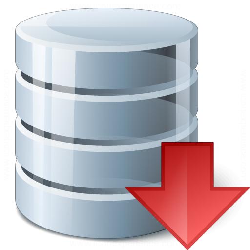 Data Down Icon