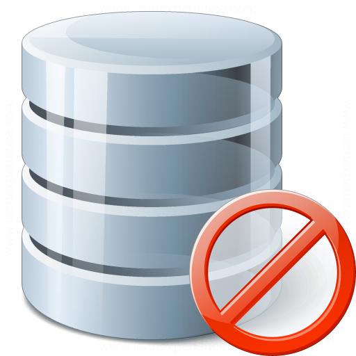 Data Forbidden Icon