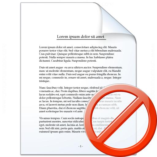 Document Forbidden Icon