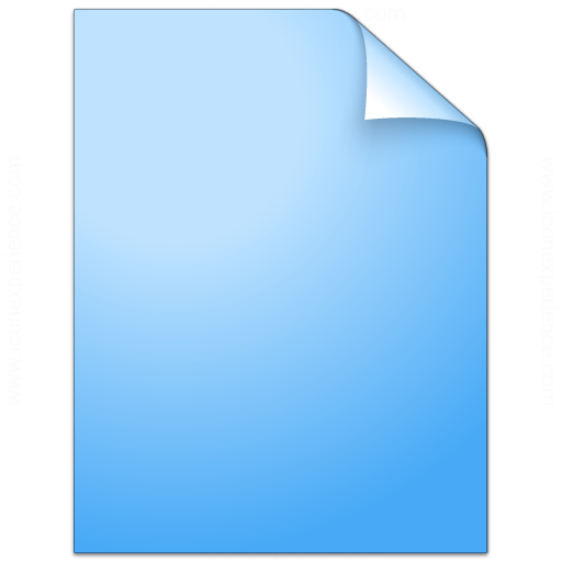 Document Plain Blue Icon