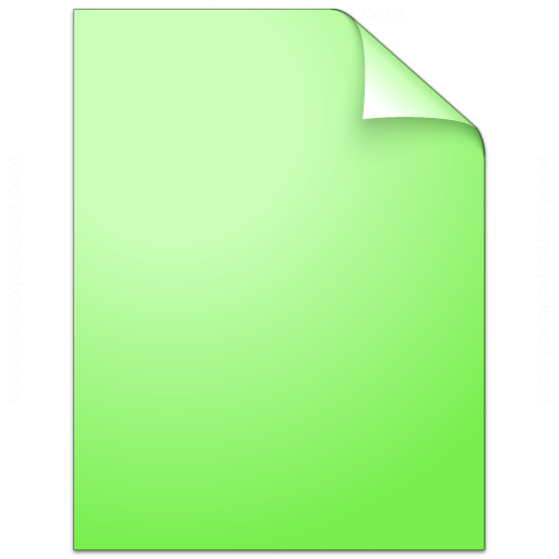 Document Plain Green Icon