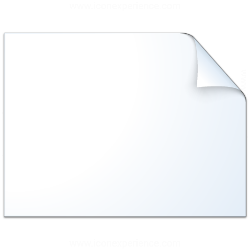 Document Plain Landscape Icon