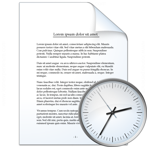 Document Time Icon