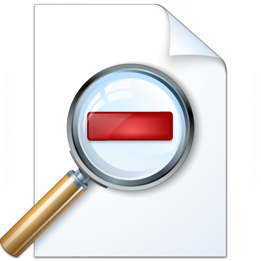 Document Zoom Out Icon