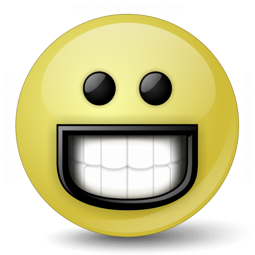 Emoticon Grin Icon